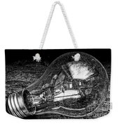 Lightbulb Black And White Weekender Tote Bag