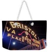 Lighting Up The Bristol Sign Weekender Tote Bag