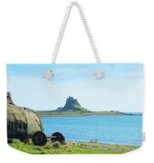 Lindisfarne Castle And Bay Weekender Tote Bag