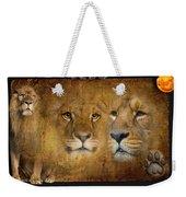 Lions No 02 Weekender Tote Bag
