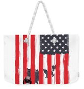 Little Girl And Wolves Weekender Tote Bag