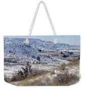 Little Missouri Winter Prairie Weekender Tote Bag by Cris Fulton