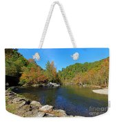Little River From Little River Gorge Road At Townsend Entrance Weekender Tote Bag