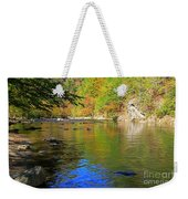 Little River In Autumn In Smoky Mountains National Park Weekender Tote Bag