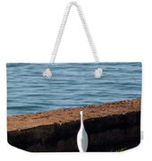 Little White Egret Egretta Garzetta Weekender Tote Bag