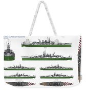 Littorio Class Battleships Weekender Tote Bag