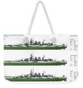Littorio Class Battleships Port Side Weekender Tote Bag