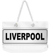 Liverpool City Nameplate Weekender Tote Bag