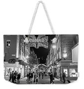 London Nightlife Carnaby Street London Uk United Kingdom Black And White Weekender Tote Bag