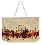 London Skyline Sepia Weekender Tote Bag