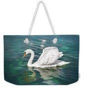 Lone Swan Lake Geneva Switzerland Weekender Tote Bag