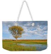 Lone Tree By A Wetland Weekender Tote Bag
