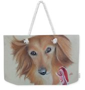 Long Haired, Miniature Dachshund Weekender Tote Bag