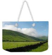 looking down Ettrick valley in Selkirkshire in summer Weekender Tote Bag