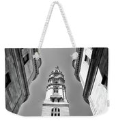 Looking Up - City Hall Court Yard In Black And White Weekender Tote Bag