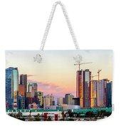 Los Angeles Skyline Sunset - Panorama Weekender Tote Bag