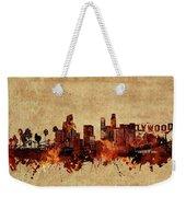 Los Angeles Skyline Vintage Weekender Tote Bag