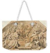 Los Apostoles Ante El Sepulcro Vacio De La Virgen  Weekender Tote Bag