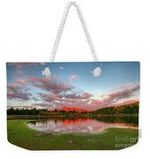 Lost Lake Sunset Weekender Tote Bag