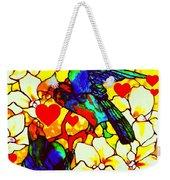Love Birds In The Love Tree With Hibiscus Weekender Tote Bag