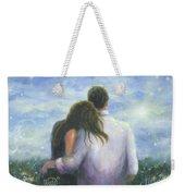 Lovers Looking Forward Brunettes Weekender Tote Bag