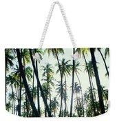 Low Angle View Of Coconut Palm Trees Weekender Tote Bag