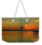 Low Flying Pelican Sunrise Weekender Tote Bag
