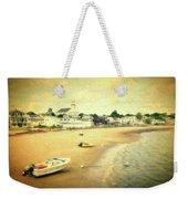 Low Tide Provincetown Cape Cod Massachusetts Shoreline Textured Weekender Tote Bag