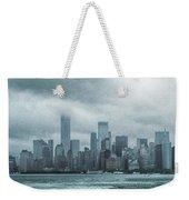 Lower Manhattan Panorama Weekender Tote Bag by Judy Hall-Folde