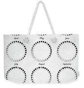Lunar Calendar 2019 Weekender Tote Bag