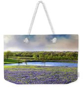 Mach Road Blubonnet Panorama In Evening Light Weekender Tote Bag