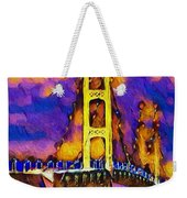Mackinac At Dusk Weekender Tote Bag