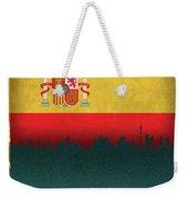 Madrid Spain City Skyline Flag Weekender Tote Bag