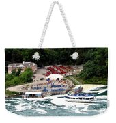 Maid Of The Mist Tour Boat At Niagara Falls Weekender Tote Bag by Rose Santuci-Sofranko