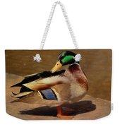 Male Mallard - Painted Weekender Tote Bag