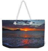 Malibu Pier Sunrise Weekender Tote Bag