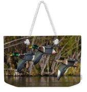 Mallards Flying By Weekender Tote Bag