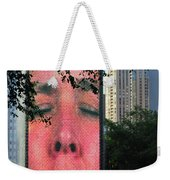 Man Face Crown Fountain Chicago Weekender Tote Bag