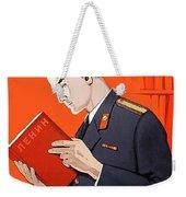 Man Is Reading Lenin Books Weekender Tote Bag