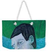 Man Leaving An Island Weekender Tote Bag