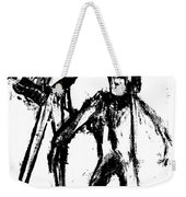 Man Standing With A Bird Weekender Tote Bag