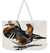 Mandarin Duck  Aix Galericulata Illustrated By Charles Dessalines D' Orbigny  1806-1876 1 Weekender Tote Bag