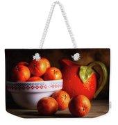 Mandarin Oranges And Orange Shaped Pitcher Weekender Tote Bag