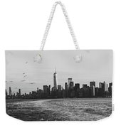 Manhatta, New Jersey And The Statue Of Liberty Weekender Tote Bag