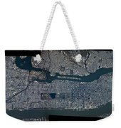 Manhattan - 2012 From Space Weekender Tote Bag by Celestial Images