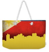 Manilla Philippines City Skyline Flag Weekender Tote Bag