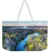 Manistee River And Hodenpyle Dam Aerial Weekender Tote Bag