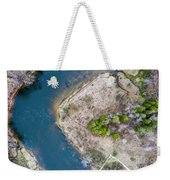Manistee River Bend Aerial Weekender Tote Bag