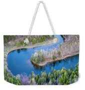 Manistee River Bend From Above Weekender Tote Bag