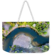 Manistee River Curve Aerial Weekender Tote Bag